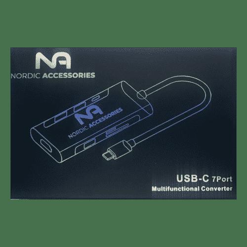 Nordic Accessories 7-in-1 USB-C hub - Dockingstation 7