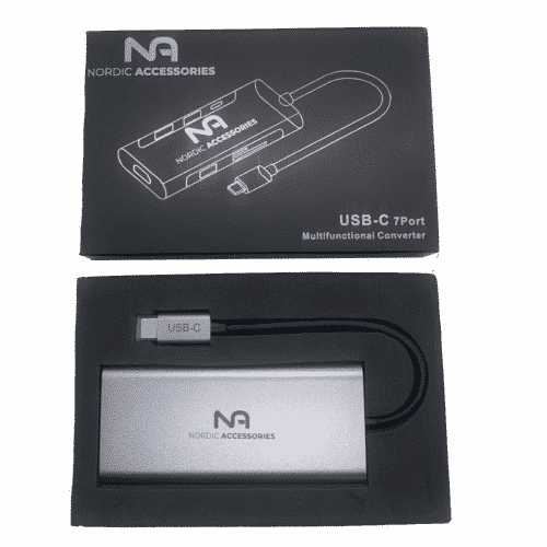 Nordic Accessories 7-in-1 USB-C hub - Dockingstation 8